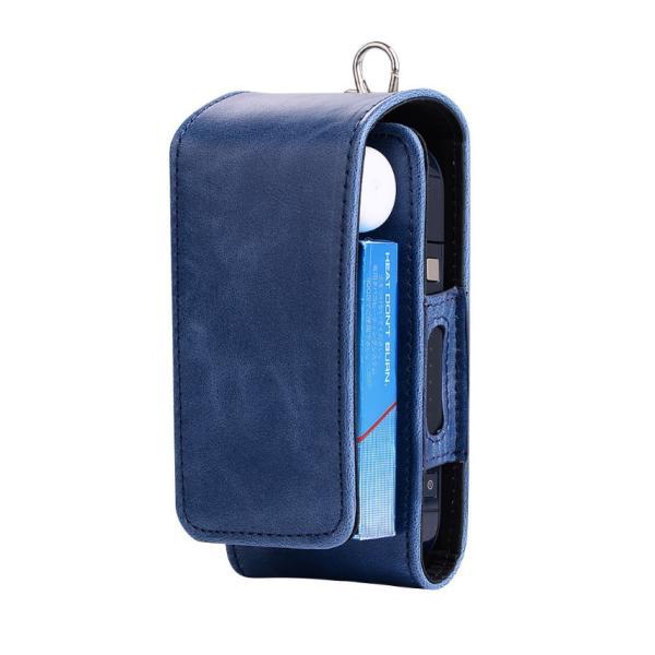 iQOS アイコス 専用 2.4 Plus 新型iQOS対応 iQOSケース ベルト掛け カバー 電子たばこ バッグ レザー 革 ポーチ ホルダー カラビナ取付可 まとめて収納|k-seiwa-shop|10
