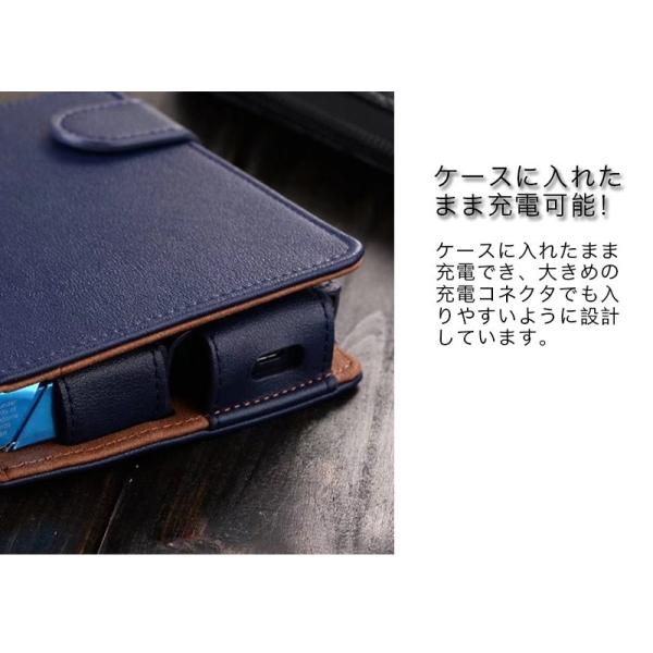 iQOS アイコス 専用 2.4 Plus 新型iQOS対応 iQOSケース 財布型 カード収納 カバー 電子たばこ バッグ レザー 革 ポーチ ホルダー カラビナ取付可|k-seiwa-shop|06