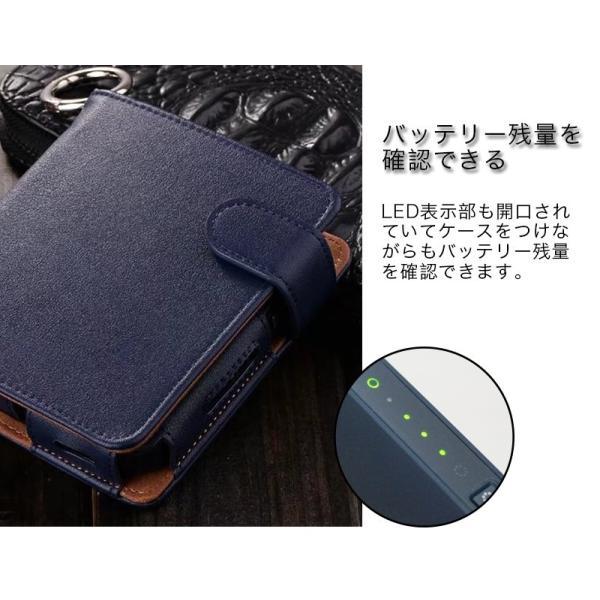 iQOS アイコス 専用 2.4 Plus 新型iQOS対応 iQOSケース 財布型 カード収納 カバー 電子たばこ バッグ レザー 革 ポーチ ホルダー カラビナ取付可|k-seiwa-shop|08