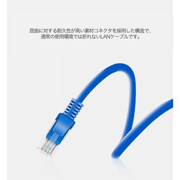 LANケーブル CAT5e Gigabit 爪折れ防止 やわらか 16m 16メートル ギガビット カテゴリ5e ランケーブル 【PlayStation 4 対応】|k-seiwa-shop|04