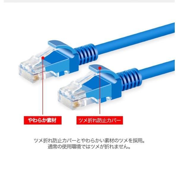 LANケーブル CAT5e Gigabit 爪折れ防止 やわらか 16m 16メートル ギガビット カテゴリ5e ランケーブル 【PlayStation 4 対応】|k-seiwa-shop|05