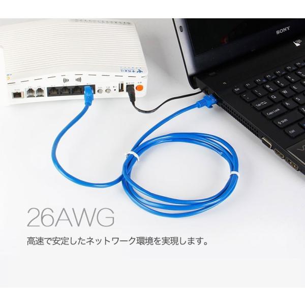 LANケーブル CAT5e Gigabit 爪折れ防止 やわらか 16m 16メートル ギガビット カテゴリ5e ランケーブル 【PlayStation 4 対応】|k-seiwa-shop|06