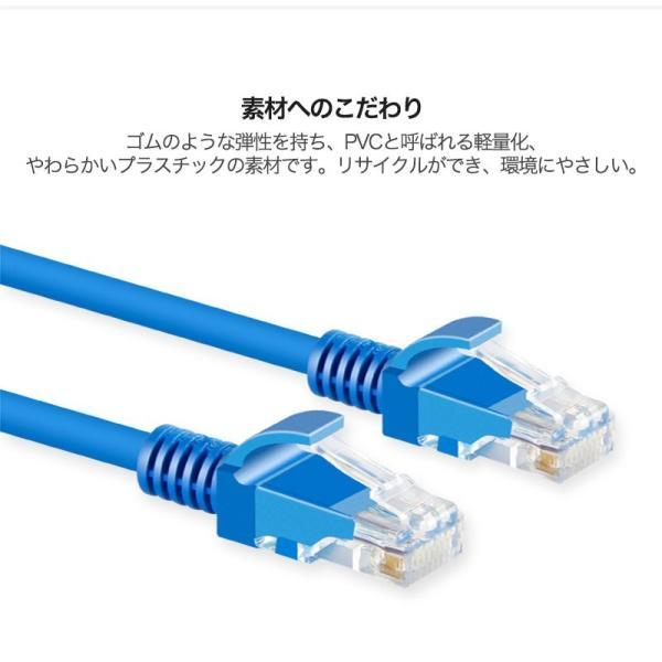 LANケーブル CAT5e Gigabit 爪折れ防止 やわらか 16m 16メートル ギガビット カテゴリ5e ランケーブル 【PlayStation 4 対応】|k-seiwa-shop|07