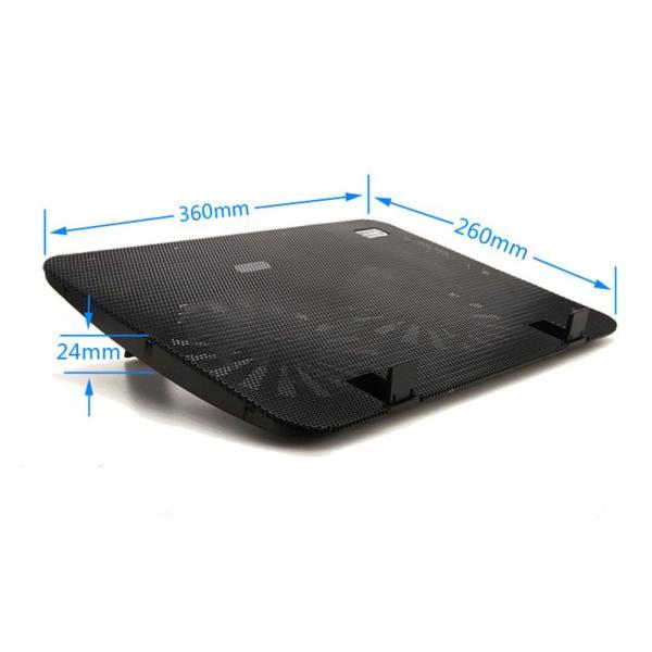 冷却ファン ノートパソコン 冷却パッド ノートPC クーラー 15.6インチまで対応 冷却 放熱ファン USB給電 角度調整 熱暴走対策 k-seiwa-shop 12