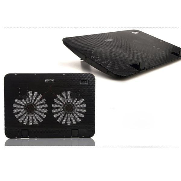 冷却ファン ノートパソコン 冷却パッド ノートPC クーラー 15.6インチまで対応 冷却 放熱ファン USB給電 角度調整 熱暴走対策 k-seiwa-shop 13