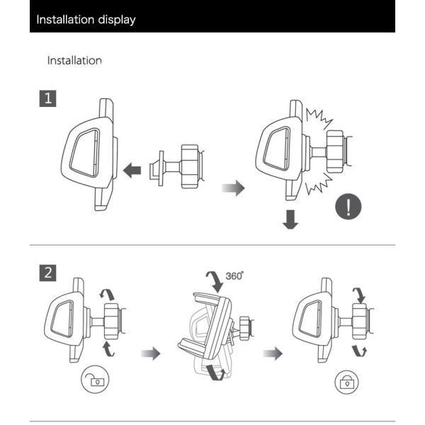 バイク スマホホルダー 自転車 スマホスタンド ブランド 落下防止 iPhoneXS X Xperia XZ2 Galaxy 多機種対応|k-seiwa-shop|11