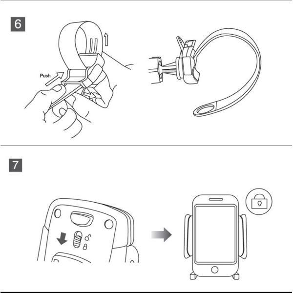 バイク スマホホルダー 自転車 スマホスタンド ブランド 落下防止 iPhoneXS X Xperia XZ2 Galaxy 多機種対応|k-seiwa-shop|13