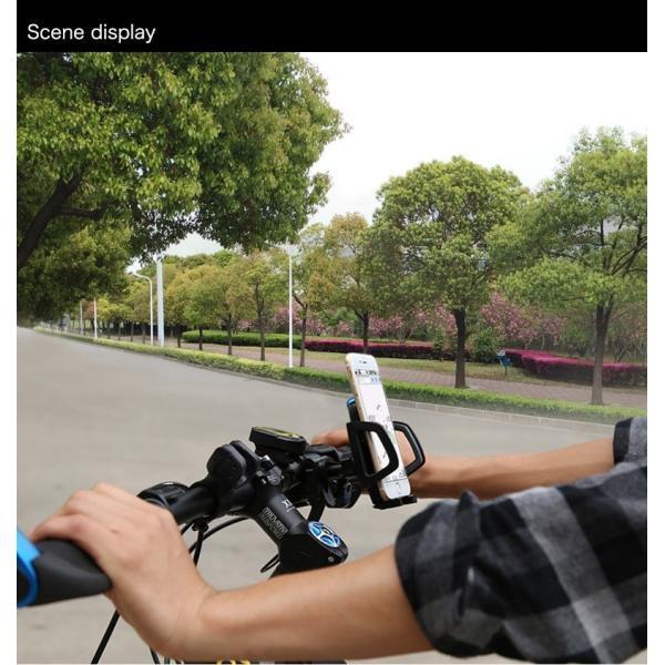 バイク スマホホルダー 自転車 スマホスタンド ブランド 落下防止 iPhoneXS X Xperia XZ2 Galaxy 多機種対応|k-seiwa-shop|14