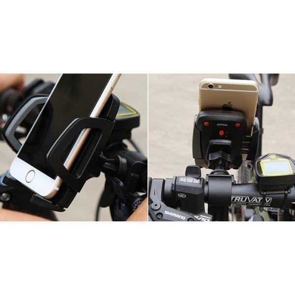 バイク スマホホルダー 自転車 スマホスタンド ブランド 落下防止 iPhoneXS X Xperia XZ2 Galaxy 多機種対応|k-seiwa-shop|15