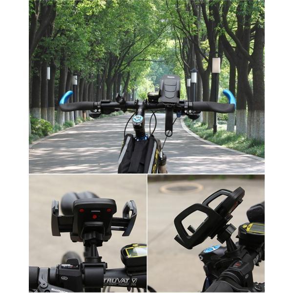 バイク スマホホルダー 自転車 スマホスタンド ブランド 落下防止 iPhoneXS X Xperia XZ2 Galaxy 多機種対応|k-seiwa-shop|16