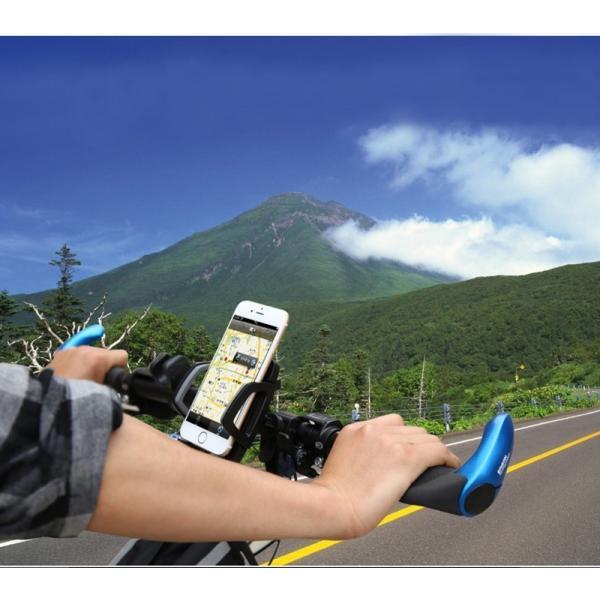 バイク スマホホルダー 自転車 スマホスタンド ブランド 落下防止 iPhoneXS X Xperia XZ2 Galaxy 多機種対応|k-seiwa-shop|03