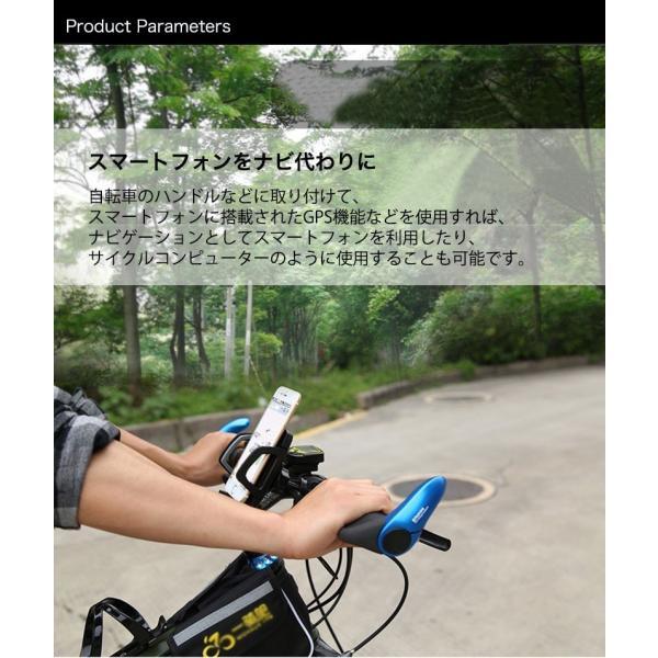 バイク スマホホルダー 自転車 スマホスタンド ブランド 落下防止 iPhoneXS X Xperia XZ2 Galaxy 多機種対応|k-seiwa-shop|06