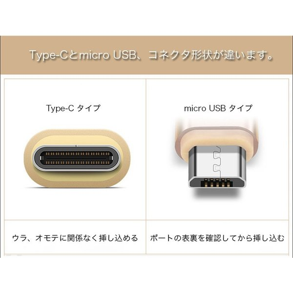 Android USB充電ケーブル 2in1 1.5m 1m 0.25m Type C ケーブル MicroUSB 両方対応 急速 充電 高速 データ転送 Type-C タイプC k-seiwa-shop 05