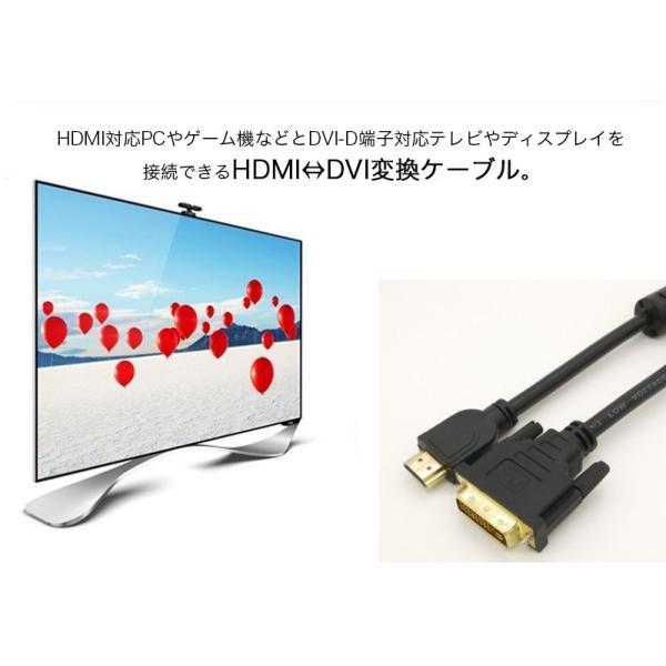 HDMI-DVI変換ケーブル 変換アダプタ HDMIケーブル 24金メッキ 金コネクタ FULL HD 1080p 3D映像 ハイビジョン イーサネット Ethernet オス-オス 1.5メートル|k-seiwa-shop|02