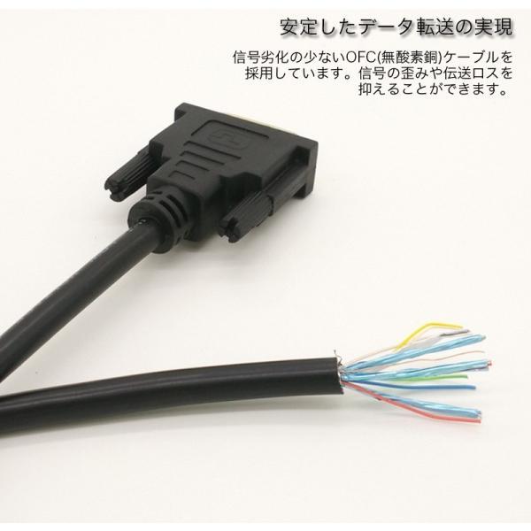 HDMI-DVI変換ケーブル 変換アダプタ HDMIケーブル 24金メッキ 金コネクタ FULL HD 1080p 3D映像 ハイビジョン イーサネット Ethernet オス-オス 1.5メートル|k-seiwa-shop|05