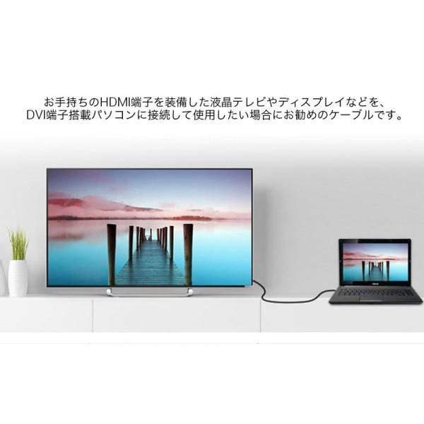 HDMI-DVI変換ケーブル 変換アダプタ HDMIケーブル 24金メッキ 金コネクタ FULL HD 1080p 3D映像 ハイビジョン イーサネット Ethernet オス-オス 1.5メートル|k-seiwa-shop|06