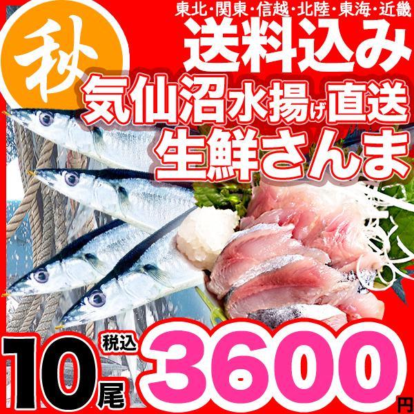 さんま 秋刀魚 10尾  1尾130g以上  海鮮 送料無料 お取り寄せ ご当地グルメ 気仙沼直送 サンマ 生|k-sozaiya