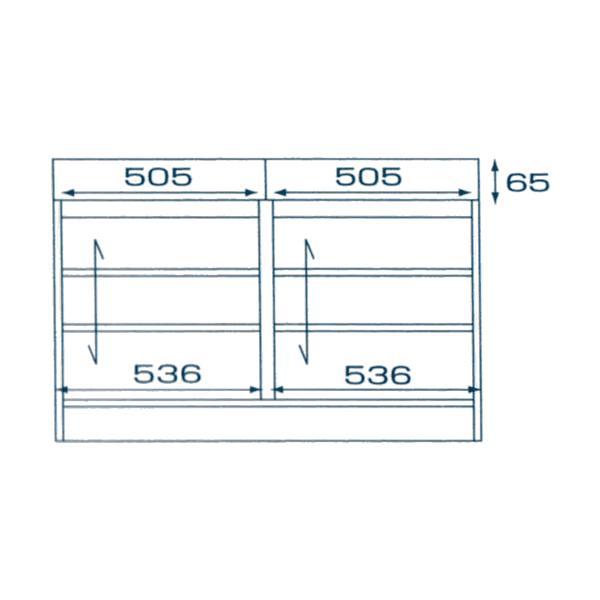 カウンター下収納 セミオーダー 開き戸 幅 1155mm 奥行 350mm 高さ 770〜1030mm 1cm単位|k-style|02