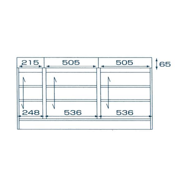 カウンター下収納 セミオーダー 開き戸 幅 1443mm 奥行 350mm 高さ 770〜1030mm 1cm単位 k-style 02