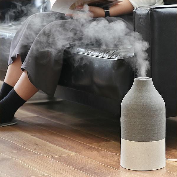 アロマ 超音波式 加湿器 北欧風 ノルディックスタイル 陶器カバー  ツートンカラー|k-style|07