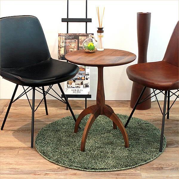 サイドテーブル ウォールナット 007 カフェ テーブル 北欧 風 おしゃれ 丸 高さ60cm cafe かっこいい 円形 木製テーブル 完成品 送料無料|k-style|03