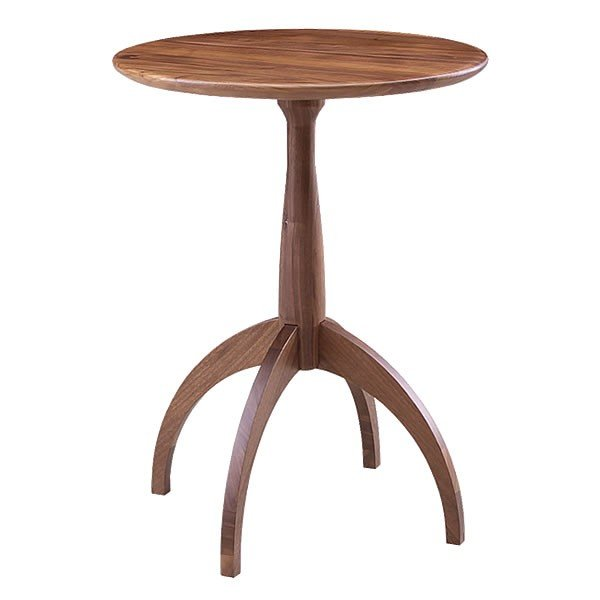 サイドテーブル ウォールナット 007 カフェ テーブル 北欧 風 おしゃれ 丸 高さ60cm cafe かっこいい 円形 木製テーブル 完成品 送料無料|k-style|06