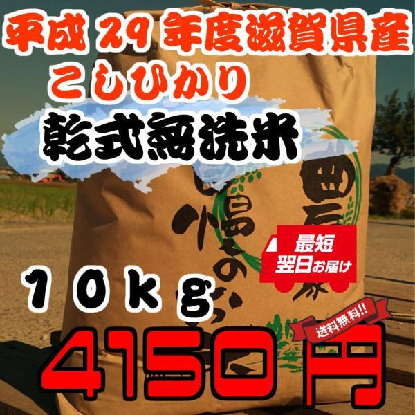 【自家栽培米100%】最高品質!コシヒカリ/29年度滋賀県産/10Kgx1/新米/無洗米|k2farm