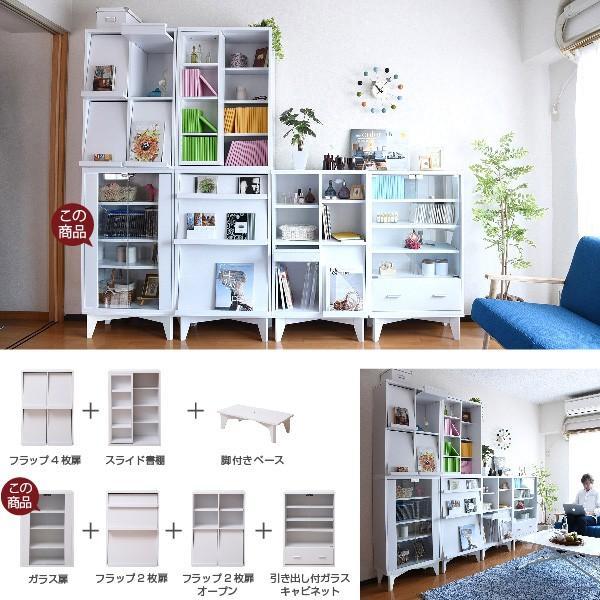 ガラスキャビネット 6BOX リビングキャビネット 木製キャビネット 飾り棚 リビング収納 本棚 にもなる 棚 ラック サイドキャビネット 幅 60 cm 高さ90|k3-furniture|06