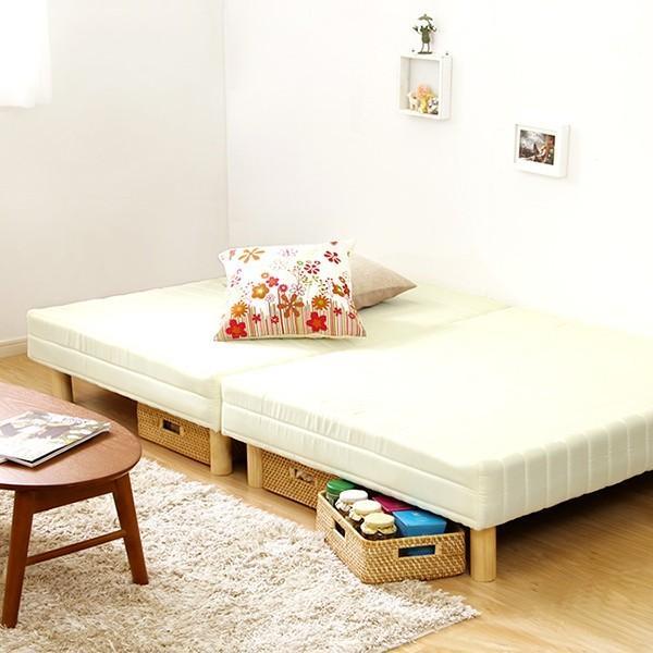 ベッド 脚付きマットレス シングルベッド ベット ローベッド 分割 脚付マットレスベッド ボンネルコイル YOG|ka-grande|11