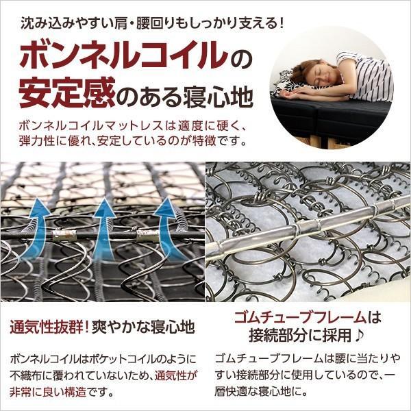 ベッド 脚付きマットレス シングルベッド ベット ローベッド 分割 脚付マットレスベッド ボンネルコイル YOG|ka-grande|07