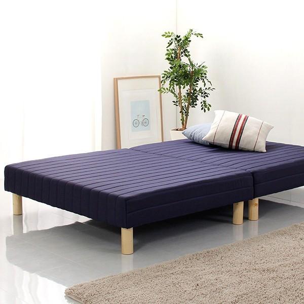 ベッド 脚付きマットレス セミダブル ベッド ベット ローベッド 分割 脚付マットレスベッド ボンネルコイル YOG|ka-grande|08