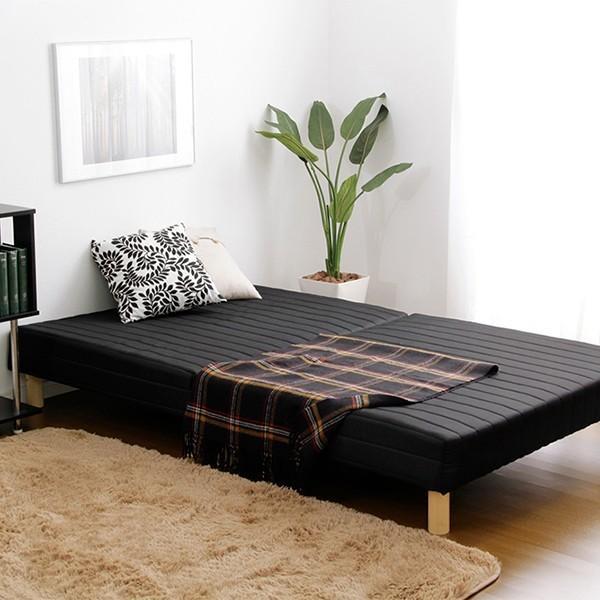 ベッド 脚付きマットレス セミダブル ベッド ベット ローベッド 分割 脚付マットレスベッド ボンネルコイル YOG|ka-grande|09