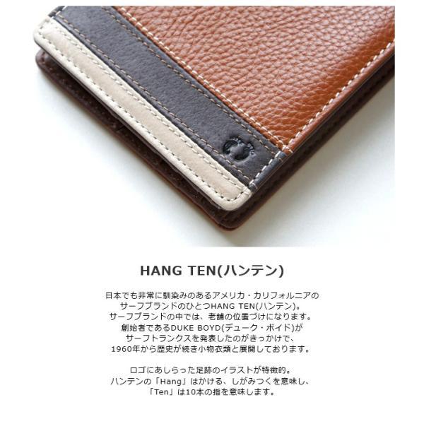 f507258fb38d ... 二つ折り財布 本革 メンズ レディース/HANG TEN ハンテン 二つ折り財布/ 61ht05 ...