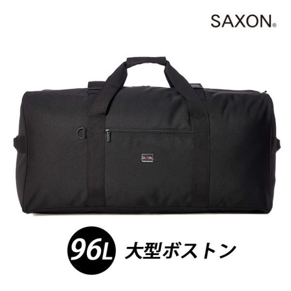 ボストン 大容量 大型 超大型 1週間 ボストンバック メンズ 黒 ブラック シンプル SAXON サクソン 杢ポリ 大型ボストンバッグ S 96L 5214
