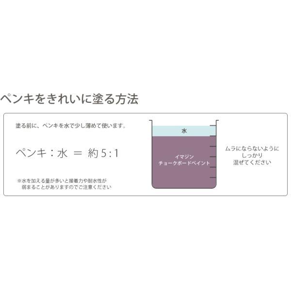 ペンキ 水性塗料 ブラック 黒板 水性ペンキ イマジンチョークボードペイント 500ml 全20色 kabegamiya-honpo 05