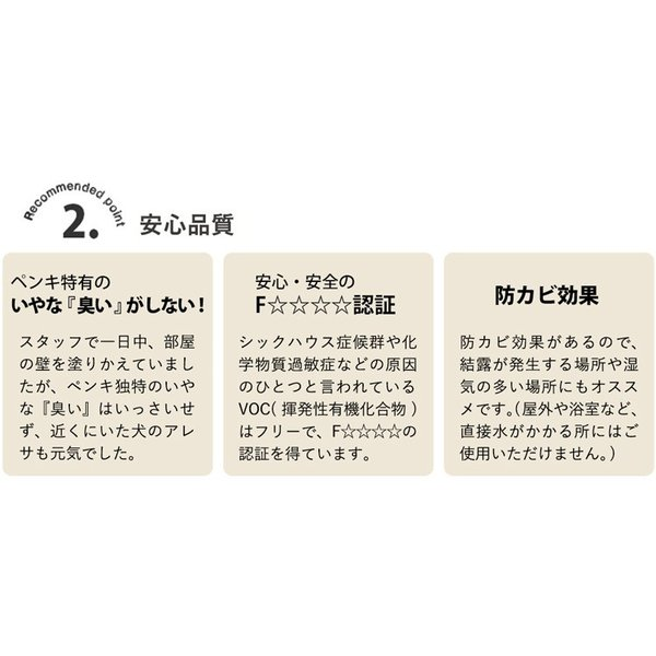 イマジンウォールペイント アメリカン ヴィンテージ カラーズ 2L 道具セット 黄色 茶色 緑 黄緑 ピンク 白 ベージュ グレー 黒 青 ブルー 水色 赤 レッド kabegamiya-honpo 11