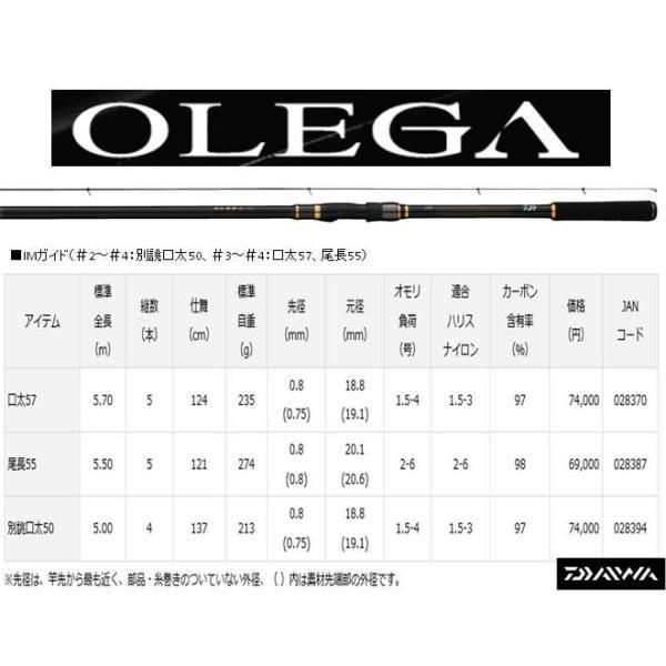 ※ダイワ オレガ 別誂口太50 DAIWA OLEGA 4960652028394