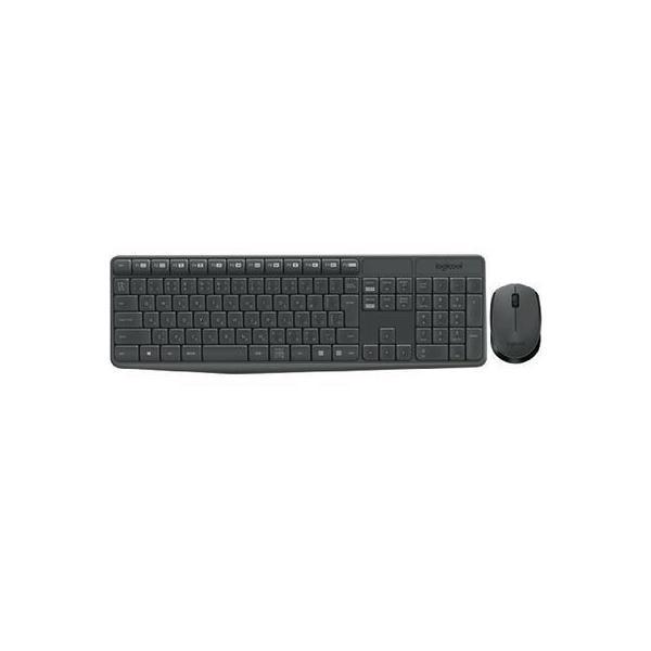 ワイヤレスキーボード[2.4GHz USB・Win/Chrome]&マウス Wireless Combo (108キー・ブラック) MK235の画像