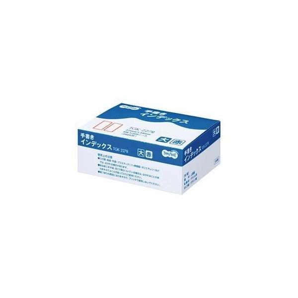 ds-1575537 (まとめ) TANOSEE 手書きインデックス 大 27×34mm 赤枠 業務用パック 1パック(2025片:9片×225シート) 【×5セット】 (ds1575537)