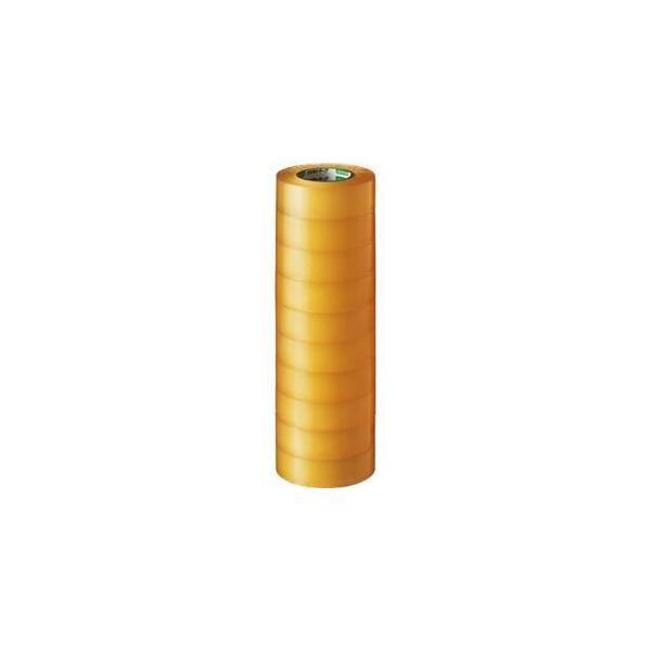 ds-1581076 (まとめ) オカモト ビニールテープ No.470 19mm×10m 透明 No.470-19x10 トウメイ 1パック(10巻) 【×10セット】 (ds1581076)