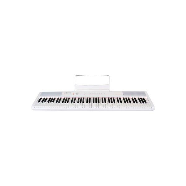 キョーリツ PERFORMER_WH Artesia 電子ピアノ 88鍵 軽量スリム設計 電池駆動対応モデル PERFORMER/WH ホワイト (サスティンペダル付属)