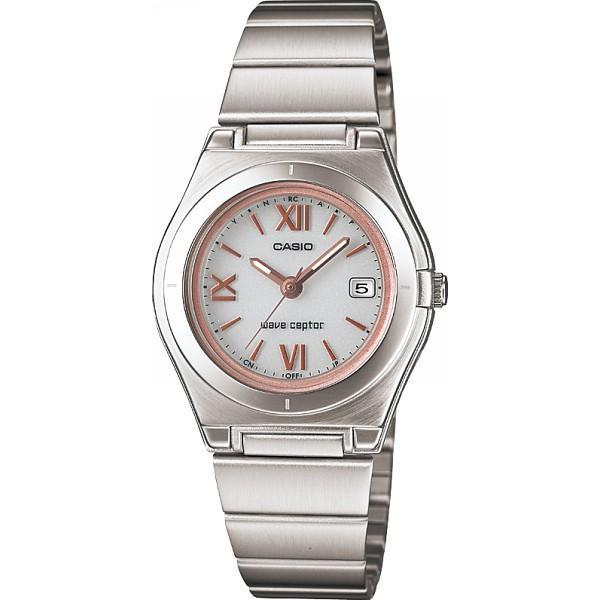 4971850965466 カシオ ソーラー電波レディース腕時計 ホワイト/ピンク