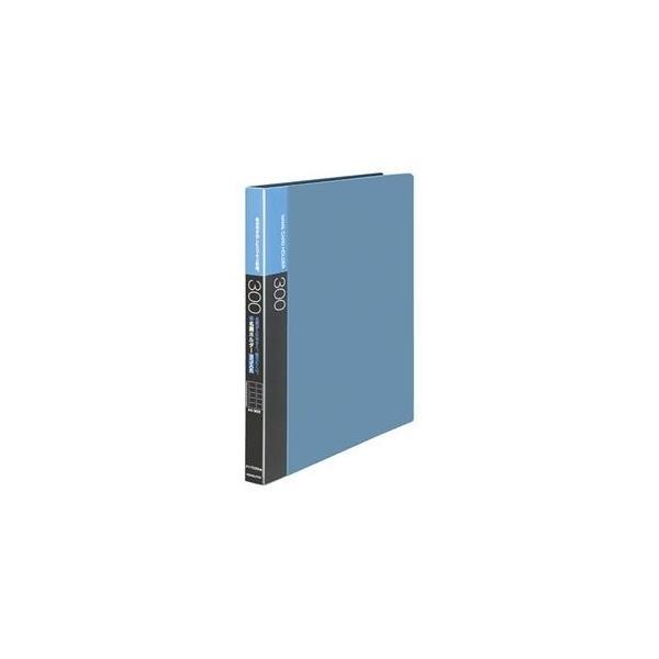 ds-2233436 (まとめ) コクヨ名刺ホルダー(替紙式・発泡PPシートタイプ) 30穴 300名 ヨコ入れ 青 メイ-F335NB 1冊  【×10セット】 (ds2233436)