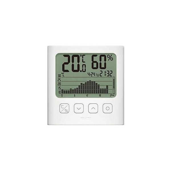 ds-2292529 タニタ グラフ付きデジタル温湿度計ホワイト TT-580-WH 1個 (ds2292529)