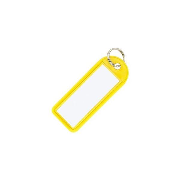 ds-2296171 (まとめ)コクヨ ソフトキーホルダー型名札カード寸法42×17mm 黄 ナフ-225Y 1セット(50個)【×2セット】 (ds2296171)
