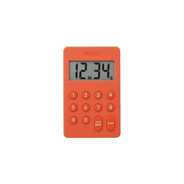ds-2297306 (まとめ)タニタ デジタルタイマー100分計オレンジ TD-415-OR 1個【×5セット】 (ds2297306)