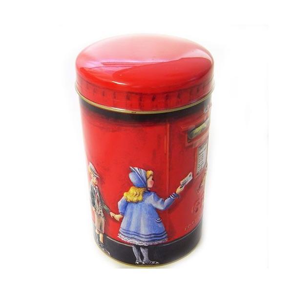 [輸入お菓子]缶入りトフィー缶  ポストBOXチャーチル貯金箱