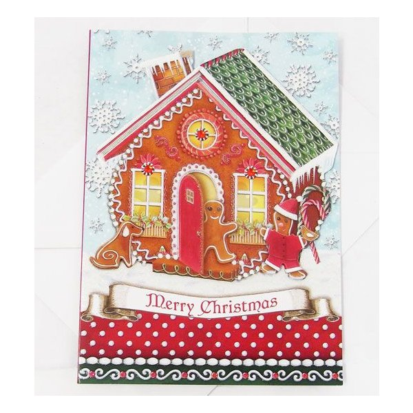 [Punch Studio]クリスマスカードL お菓子の家 パンチスタジオ 2010クリスマスシーズンカードグリーティング・カード・ギフト