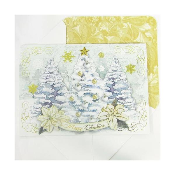 [Punch Studio]クリスマスカード ホワイト クリスマス パンチスタジオ クリスマス