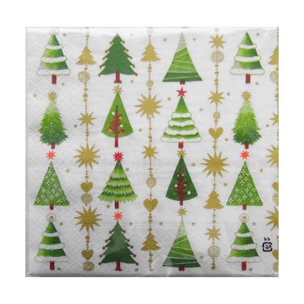 c 443 3枚 ペーパーナプキン クリスマスツリーデザイン paper design